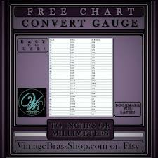 Free Chart To Convert Wire And Sheet Metal Gauges To Inches