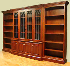 glass door bookcases library sliding antique bookcase