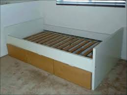 Bed Frame With Drawers Twin White Bed Frame With Drawers Amazing ...