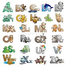 Interface for entering/typing ipa characters/symbols/glyphs/letters and diacritics. Letters Of The Alphabet With Cartoon Characters Stock Illustration Illustration Of Atoz Animal 123334383