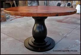 round copper top dining tableu0026nbsp54 inch diameter round copper top table 54 table 624