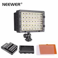 Cn 160 Led Video Light Battery New Neewer 160 Led Cn 160 Dimmable Ultra High Power Panel