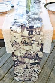 diy photo collage tablerunner