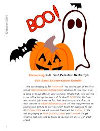 Costume Contest Flyer Kids First Pediatric Dental Blog