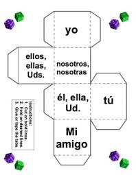 Spanish Ar Verbs Dice Game And Conjugation Chart Worksheet