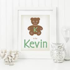 on teddy bear wall art for nursery with personalized teddy bear nursery art