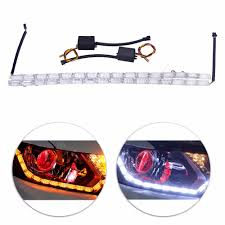 Knight Rider Running Light Us 16 31 32 Off 2xcar Styling Led Flexible Switchback Knight Rider Strip Daytime Running Light For Headlight Sequential Flasher Drl Turn Signal In
