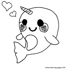 Small Picture Cute Baby Narwhal Coloring Page Coloring Pages Printable