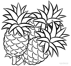 Small Picture Epic Pineapple Coloring Page 82 For Line Drawings with Pineapple