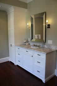 bathroom vanity and linen cabinet. Bathroom Vanity With Linen Tower Matching His And Her Master Bath Vanities Towers Eclectic Cabinet A