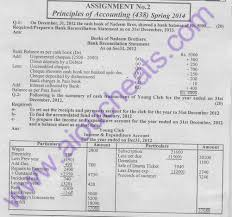 aiou solve assignment no code principles of accounting  aiou solve assignment no 2 code 438 principles of accounting b com spring 2014