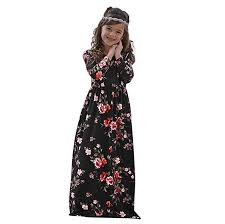 <b>Mother and Daughter Winter</b> Clothing Maxi Dresses Kids Long ...
