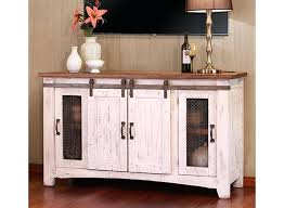 Distressed Wood Tv Console Stands White Stand  With Solid Top Polished Media White And Wood Tv Stand50
