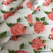 Flower Printed Paper Details About Patterned Printed Tissue Paper Wrap Cottage Rose Pink Flowers Premium Quality