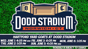 Additional Yard Goats Games At Dodd Stadium In June