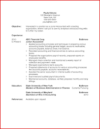 New Accountant Objective Resume Examples Mailing Format