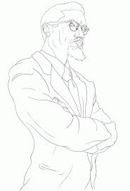 Small Picture Malcolm X Coloring Page Coloring Home
