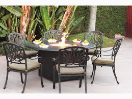 outdoor dining table with propane fire pit lovely darlee outdoor living series 60 cast aluminum 60