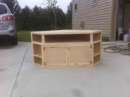 tv stand built in corner entertainment center plans