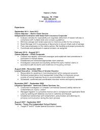 Fair Insurance Adjuster Resume for Adjuster Sample Resumes