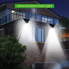 24led solar light outdoor wireless motion sensor light black