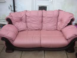 Pink leather sofa Small 31 Pink Leather Sofa For Sale Used Sandwell 31 Pink Leather Sofa For Sale Dudley Sandwell