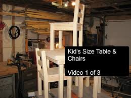 diy kids size table and chairs part of wooden for child full size