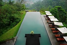 Unique Infinity Pool Edge Detail Aerial Shot Alila Ubud Bali 25 Throughout Modern Ideas