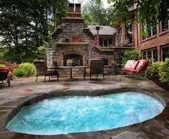 in ground jacuzzi. Large-In-Ground-Hot-Tub-In-Patio-With-Fireplace.jpg 837×694 Pixels In Ground Jacuzzi T
