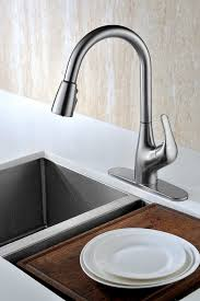 Kitchen Sink Faucet Reviews Pureluxar Tulip Single Handle Contemporary Design Arc Pull Down