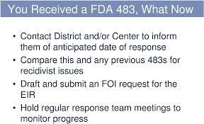 fda eir cover letter fda 483 response cover letter ideas