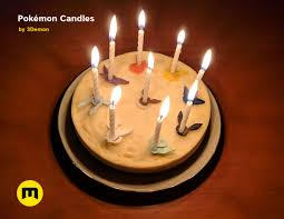 Cake Toppers 4 Pokemon Happy Birthday Candles Pikachu New Design
