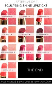 Estee Lauder Lipstick Shade Chart Round Up Estee Lauder Pure Color Envy Sculpting Shine