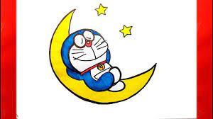 Vẽ Doremon trên mặt trăng - Vẽ Doremon dễ nhất - Cách vẽ Doremon - Vẽ tranh  Doremon - Vẽ Doreamon - YouTube