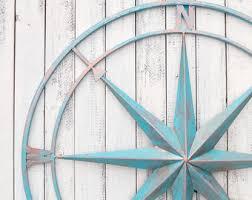 more colors 26 nautical compass metal compass wall decor metal wall art beach  on beach decor metal wall art with compass wall art etsy