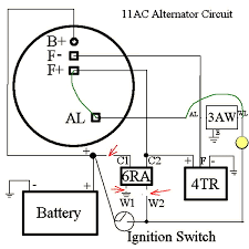 lucas ac wiring diagram wiring diagrams and schematics alternator wiring diagram lucas 11ac alternator s