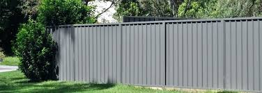 corrugated metal fence panels panel in perspective photo by meta