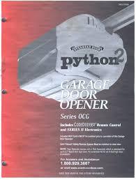 python garage door opener programming overhead door python innovation design overhead door python chain glide 2 python garage door opener