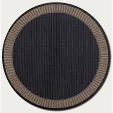 couristan recife wicker stitch black and cocoa 7 ft 6 in round indoor outdoor rug