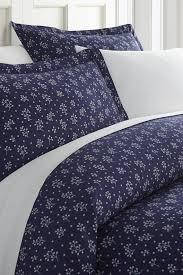 ienjoyhomecalifornia king king hotel collection premium ultra soft midnight blossoms pattern duvet cover set navy