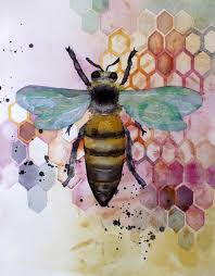 Pretty Watercolor Bee рисование Arte De Acuarela Dibujo De