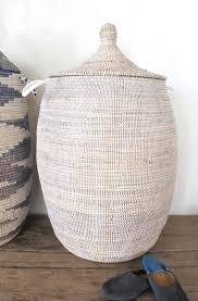 ... Handmade Laundry Basket (XL) in plain white / Senegalese Basket