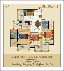 2 bedroom flats plans. hig 3 bedrooms flat bedroom + drawing room dining store kitchen 2 toilets 4 balconies super area - 1750 sq. ft.(approx) flats plans