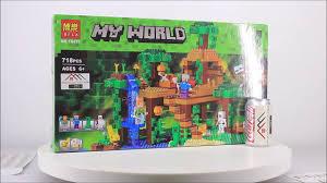 Mở hộp Bela 10471 Lego Minecraft 21125 The Jungle Tree House giá sốc rẻ  nhất - YouTube