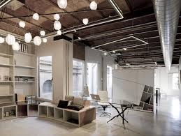 industrial style office. home office in the industrial style c