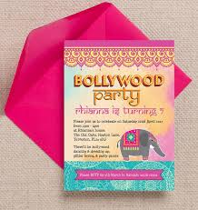 Personalised Birthday Invitations For Kids Bollywood Childrens Personalised Birthday Party Invitation Diy Pdf