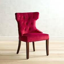hourglass velvet red dining chair with espresso wood pier 1 imports red dining chairs australia
