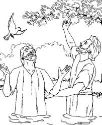 Small Picture John the Baptist and Jesus Looking Up the Sky Coloring Page NetArt