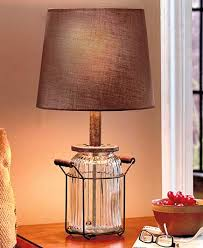 rustic glass jar table lamp vintage country living room country style table lamps