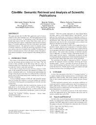 Pdf Cite4me Semantic Retrieval And Analysis Of Scientific Publications